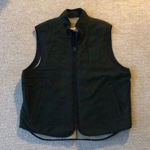 LLBean Large Fleece Lined Vest Dark Green